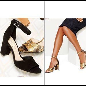 EUC {JESSICA SIMPSON} Suede Block Heel Sandal